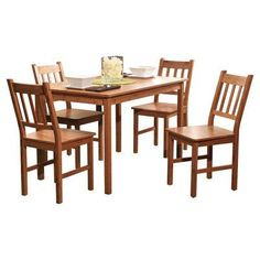 Target Marketing Systems 5 Piece Bamboo Indoor Dining Set with 1 Bamboo Table and 4 Bamboo Chairs Natural *** You can get additional details at the image link.Note:It is affiliate link to Amazon.