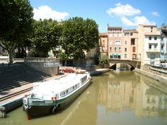 Channel in Narbonne Narbonne France, French Trip, Canal Du Midi, Places, Travelling, Nature, Channel, Mediterranean Sea, France