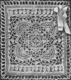 Image detail for Venetian Crochet Baby Afghan Crochet Pattern Crochet Bedspread Pattern, Baby Afghan Crochet Patterns, Crochet Mittens Pattern, Crochet Squares, Crochet Motif, Baby Blanket Crochet, Free Crochet, Crochet Baby, Crochet Doilies
