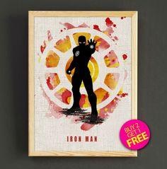 Avengers Iron Man Watercolor Art Print Avengers Superhero Poster House Wear Wall Decor Gift Linen Print - Iron Man - Buy 2 Get 1 FREE -55s2g (3.99 USD) by Star2Go
