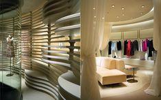 We are a global and creative design studio in Geneva, Tokyo and Beijing. Japan Interior, Retail Facade, Beige Curtains, Interior Architecture, Interior Design, Beige Sofa, Small Sofa, Aesthetic Design, Retail Space