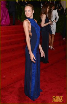 Candice Swanepoel in a custom-made Rag & Bone evening gown at the 2012 Costume Institute Gala (Met Ball).