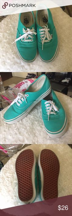⚠️⚠️60% OFF⚠️⚠️FINAL MARKDOWN⚠️⚠️ Teal Vans sneakers! Worn a few times but they're in great condition! Will ship today! PRICE IS FIRM :) Vans Shoes Sneakers