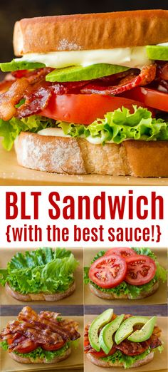 Blt Recipes, Vegetarian Recipes, Dinner Recipes, Cooking Recipes, Healthy Recipes, Easy Recipes, Dinner Ideas, Gourmet Sandwiches, Recipe For Sandwich
