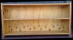 Bookcase two shelves timber pine