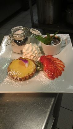 Trio- Tiramisu, Key lime pie and Chocolate Creme Brulee
