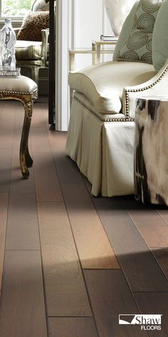 An engineered ply-core assortment, the Venetian Way line boasts 5 fine colors in the best-selling exotic species, Kupay. The South American hickory planks are wire-brushed and saturated with color suitable for almost any decor. Imagine this stunning hardwood floor in your living room and dining room. Pictured in Saint Lucia.