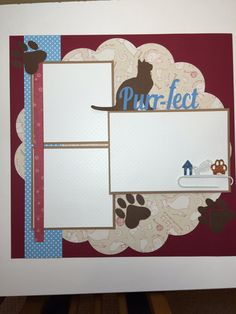 Cat Scrapbook Page Album By PaperPrettiesandMore