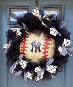 New York Yankees wreath on Etsy, $65.00
