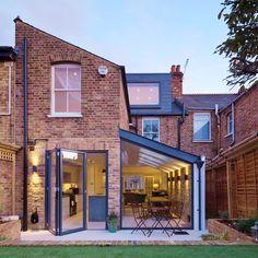 House Extension Plans, Building Extension, House Extension Design, Glass Extension, House Design, Garage Extension, Side Extension, Extension Ideas, Terrace House Exterior