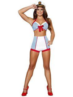 Sexy Women's Playful Pinup Sailor Costume
