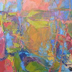 "Coastal Landscape/2014/3 by Dru Scott Warmath Oil ~ 40"" x 40"""