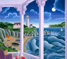 'Lighthouse Point', by Thomas McKnight.