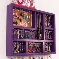 Love this .. want this .. I think I could make it!  Wall Jewelry Display Case, Jewelry Organizer