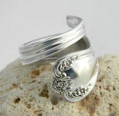 Silver Spoon Ring  - Daybreak aka Elegant Lady 1952 by CaliforniaSpoonRings on Etsy https://www.etsy.com/listing/76862913/silver-spoon-ring-daybreak-aka-elegant