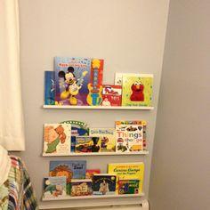 Noah's book shelves! Best ever!