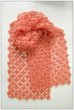 Crochet Continuous Flower Scarf, with pattern chart and photo tutorial