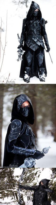 Skyrim Nightingale Armor Cosplay. Isn't this the best cosplay ever! - #skyrim #elderscrolls