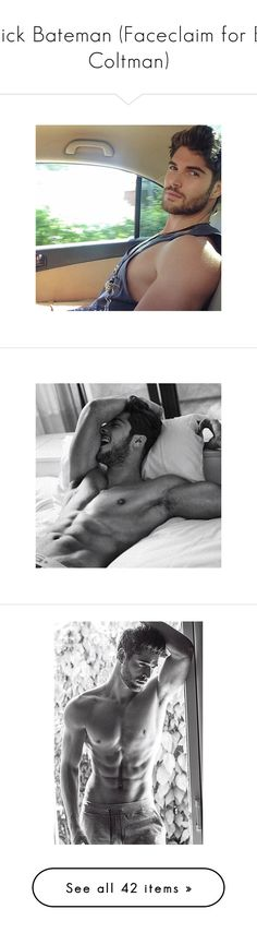 """""""Nick Bateman (Faceclaim for EJ Coltman)"""" by xxmrs-bella-greyxx ❤ liked on Polyvore featuring nick bateman, home, home decor, men and boys"""