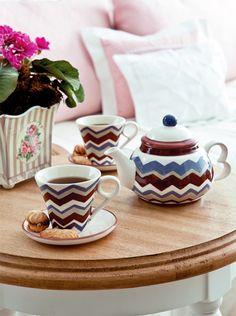 Jogo de chá com pintura / DIY, craft