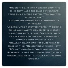 One of my favorite Jace quotes.. even if it wasn't REALLY him (City of Lost Souls ~ Mortal Instruments) He's so sassy, I love him the more for it hahaha