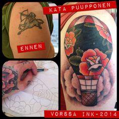 https://www.facebook.com/VorssaInk, http://tattoosbykata.blogspot.fi, #tattoo #tatuointi #katapuupponen #vorssaink #forssa #finland #traditionaltattoo #suomi #oldschool #hotairballoon