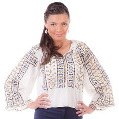This is our Queen of the Night item. A unique, modern yet traditional piece of clothing that makes you stand out of the crowd! Piece Of Clothing, Holiday Dresses, Summer Collection, Traditional, Embroidery, Boho, Tank Tops, Chic, Unique