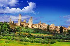 San Gimignano, la Toscana, Italia