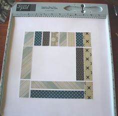 Tami Mayberry: score on the back of your cardstock to create little raised frames for paper pieces