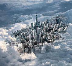 New York City through the clouds by @rickycaciopponyc   newyork newyorkcity newyorkcityfeelings nyc brooklyn queens the bronx staten island manhattan