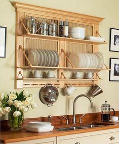 Diy kitchen rack shelves home decor 28 Ideas Kitchen Shelves, Diy Kitchen, Kitchen Storage, Kitchen Decor, Kitchen Cabinets, Kitchen Wood, Kitchen Ideas, Kitchen Organization, Messy Kitchen