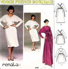 70s VOGUE 1419 Vintage Sewing Pattern French by SoVintageOnEtsy