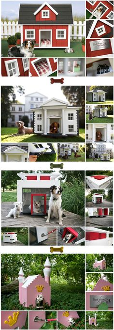 Dog mansions by Glamour Petz.