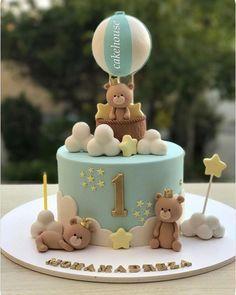 ideas baby boy birthday cupcakes for 2019 cupcakes anniversaire decoration licorne noël recette recipes cupcakes Baby Boy Birthday Cake, 1st Birthday Cakes, Baby Boy Cakes, Babyshower Cake Boy, Birthday Kids, Torta Baby Shower, Baby Boy Shower, Gateau Baby Shower Garcon, Teddy Bear Cakes
