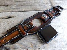 Apple Watch Band, apple watch strap, Brown watch strap,  Apple watch cuff, apple watch strap, apple watch 38 mm, apple watch 42mm by CuckooNestArtStudio on Etsy https://www.etsy.com/listing/254706168/apple-watch-band-apple-watch-strap-brown