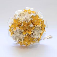 Buquê Noiva 03 - Flores de Origami
