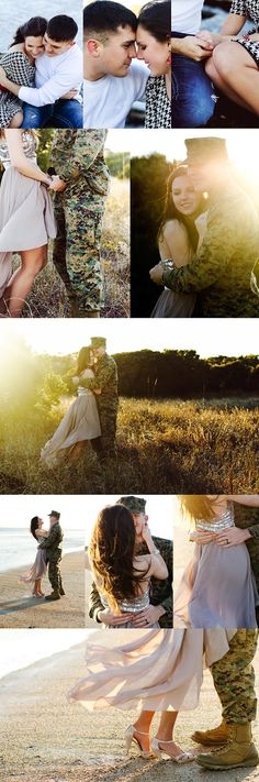 Alexis and Joel. Jennifer Blake Photography    Couples Photography, military couple, love, beach,
