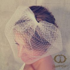 Birdcage Veil Double Layer Blusher Veil Tulle & by ParisienneLuxe