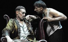 Mark Rylance as Hamm and Simon McBurney as Clov in McBurneys production of Samuel Becketts Endgame - Endgame at the Duchess theatre, review