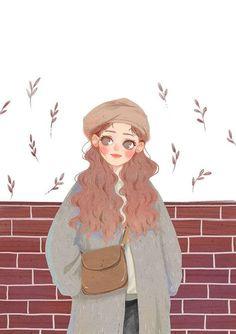 Best Ideas For Illustration Art Women Hair Texture Illustration, Cute Illustration, Character Illustration, Character Art, Character Design, Mode Poster, Anime Art Girl, Illustrations And Posters, Aesthetic Art