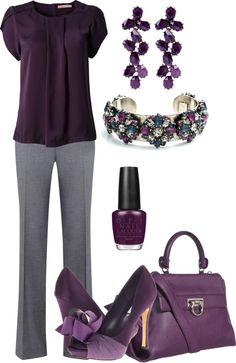 """""""purple for work"""" by meganpearl on Polyvore"""