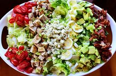 Cobb Salad, with home-made blue cheese dressing and step-by-step picks from the frontier woman.