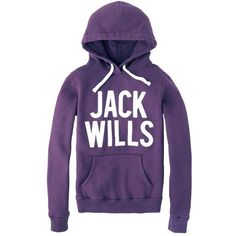 Jack Wills Bilton Hoodie ($59) ❤ liked on Polyvore featuring tops, hoodies, sweaters, shirts, jackets, sweatshirt hoodies, purple hooded sweatshirt, lined hoodie, purple hoodies and lined shirt