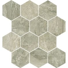 Tesoro Anthology x Porcelain Mosaic Tile in Walnut Hexagon Mosaic Tile, Best Floor Tiles, Stone Tiles, All Modern, Wall Tiles, Porcelain, Bathroom, Home Decor, Commercial