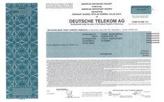 Deutsche Telekom AG - #scripomarket #scriposigns #scripofilia #scripophily #finanza #finance #collezionismo #collectibles #arte #art #scripoart #scripoarte #borsa #stock #azioni #bonds #obbligazioni