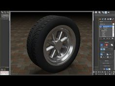 In this 3ds max tire modeling tutorial, you will learn to model a 3D tire and wheel hub. Cool chrome effect.