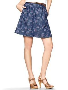 Floral denim skirt | Gap