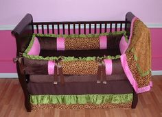 Top Baby Girl Bedding Ideas that are Cute and Stylish: Stylish Safari Baby Bedding Perfect For The Natural Themes ~ anahitafurniture.com Idea Inspiration