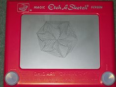 For Mother's Day, my son surprised me with an Etch-A-Sketch. Two of them actually - one the classic red and the other a very girly pink. It had been one of my VERY favorite toys from my own childhood, providing MANY hours of joy. Years later, I enjoyed drawing with my kid's Etch-A-Sketch, and eventually actually wore it out!  I was tickled to receive this blast from my past, and couldn't wait to try mixing an old favorite with a relatively new one, and created my first Etch-A-Tangle!