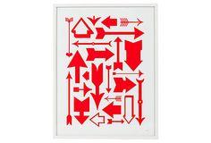Abstract Arrow Print on OneKingsLane.com